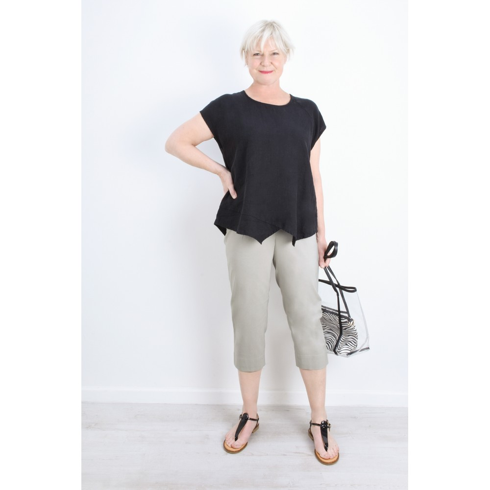 Robell Marie 07 Light Taupe Cropped Trouser Light Taupe 13
