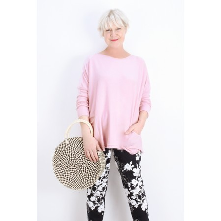 Fenella  Agnes Oversized Supersoft Knit with Pockets - Pink