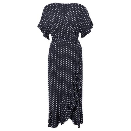 Great Plains Dana Dot Wrap Dress - Blue