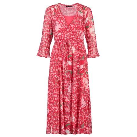 Expresso Elmo Floral Wrap Dress - Red