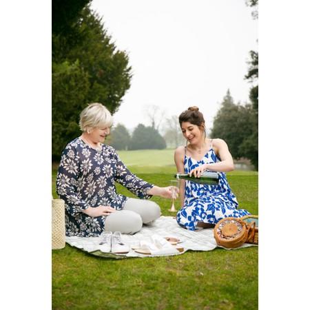 ICHI Nella Floral Print Dress - White