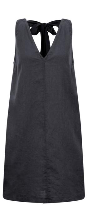 Great Plains Dana Linen Dress Dark Navy