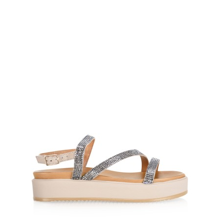 INUOVO Alice Flatform Sandal - Blue