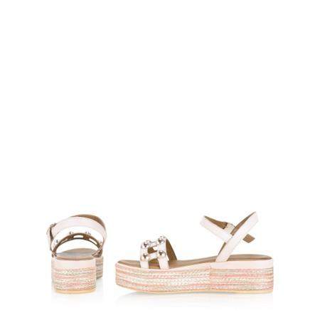 INUOVO Gemma Flatform Wedge Sandal - Pink