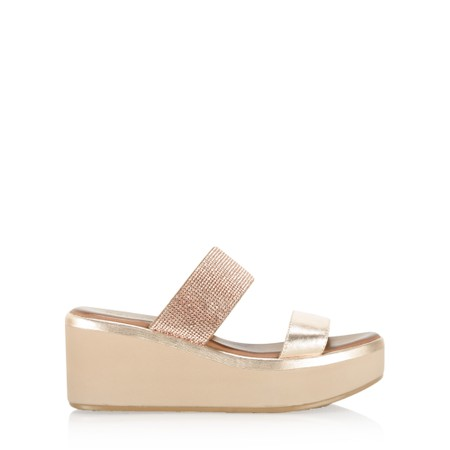 INUOVO Emma Wedge Sandal - Brown