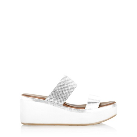 INUOVO Emma Wedge Sandal - White