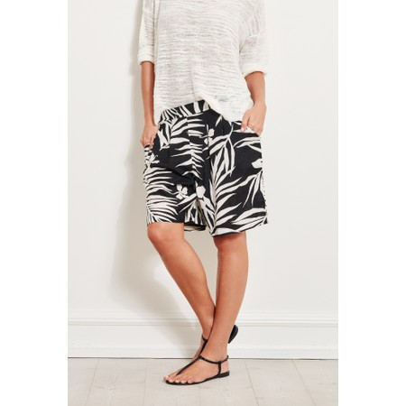 Masai Clothing Palm Print Para Shorts - Black