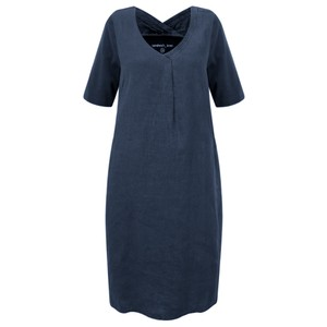 Sandwich Clothing Linen Tie Waist Dress