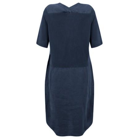 Sandwich Clothing Linen Tie Waist Dress - Blue