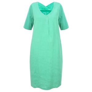 Sandwich Clothing Linen Tie Waist Dress