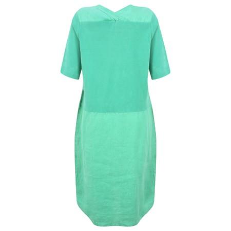 Sandwich Clothing Linen Tie Waist Dress - Green