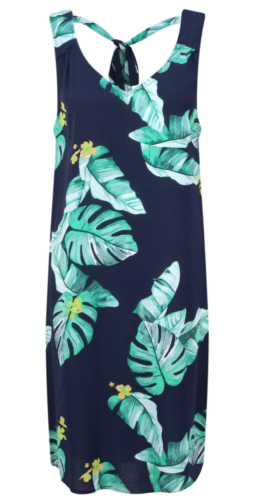 Palm Leaf Print Dress main image