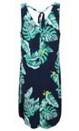 Sandwich Clothing Navy Palm Leaf Print Dress