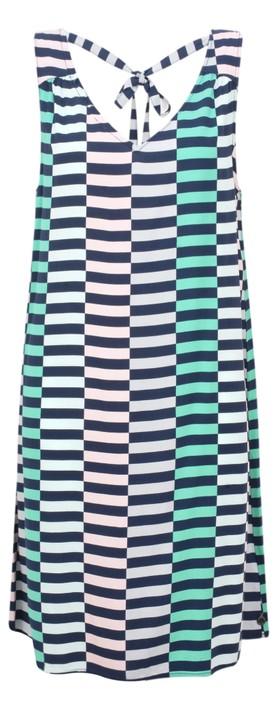 Sandwich Clothing Distorted Stripe Dress Navy