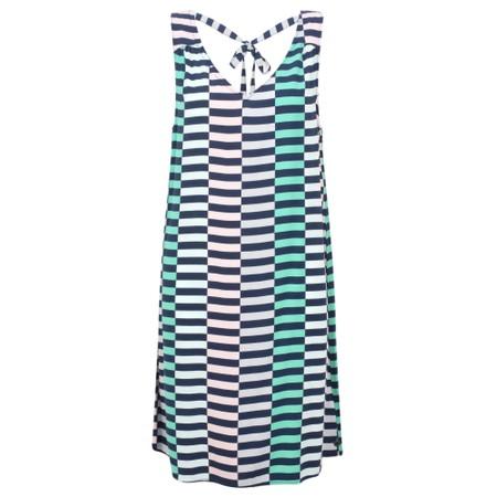 Sandwich Clothing Distorted Stripe Dress - Blue