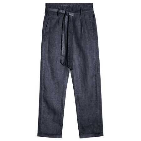 Sandwich Clothing Cropped Linen Trousers - Blue