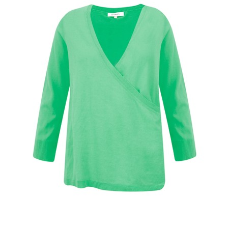 Sandwich Clothing Organic Cotton Wrap Knit Jumper - Green