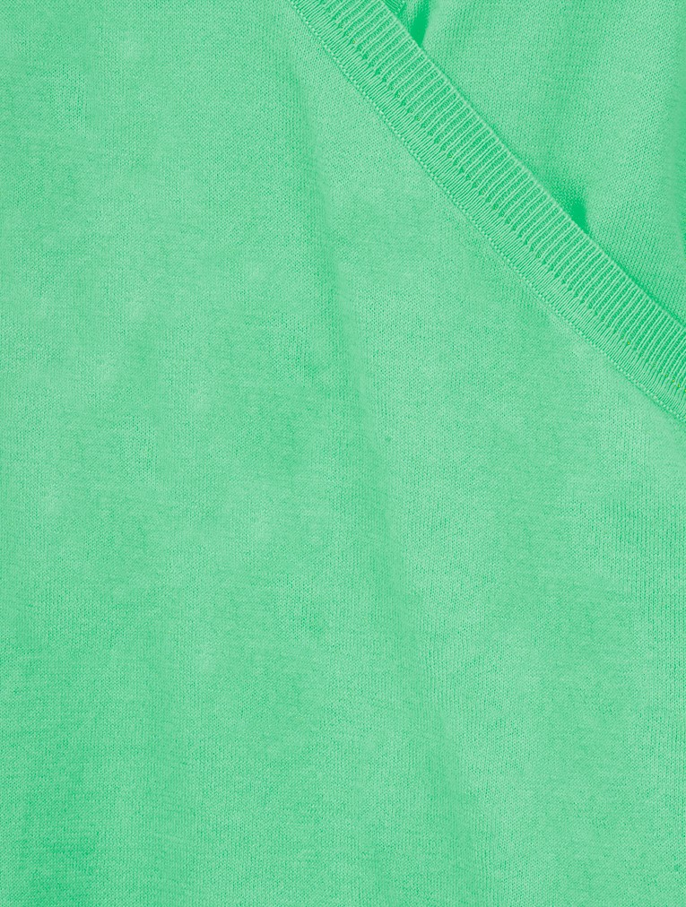 Organic Cotton Wrap Knit Jumper main image