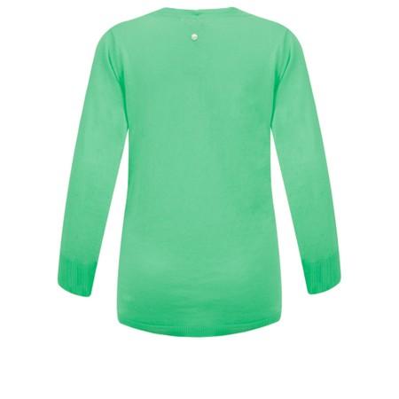 Sandwich Clothing Organic Cotton Wrap Knit Jumper - Green