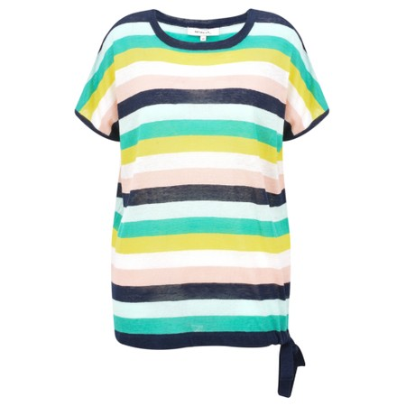 Sandwich Clothing Linen Stripe Print Jumper - Green