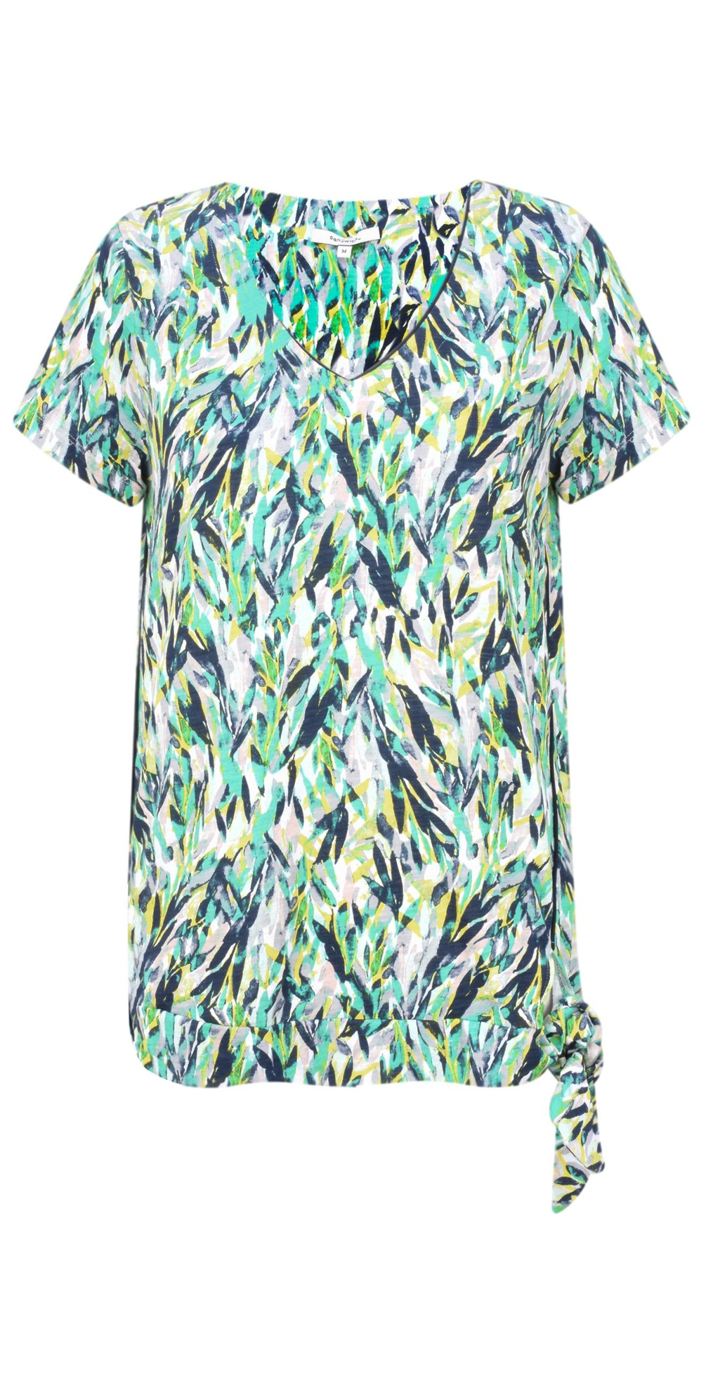 Abstract Jersey Print Top main image