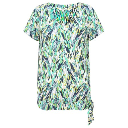Sandwich Clothing Abstract Jersey Print Top - Green