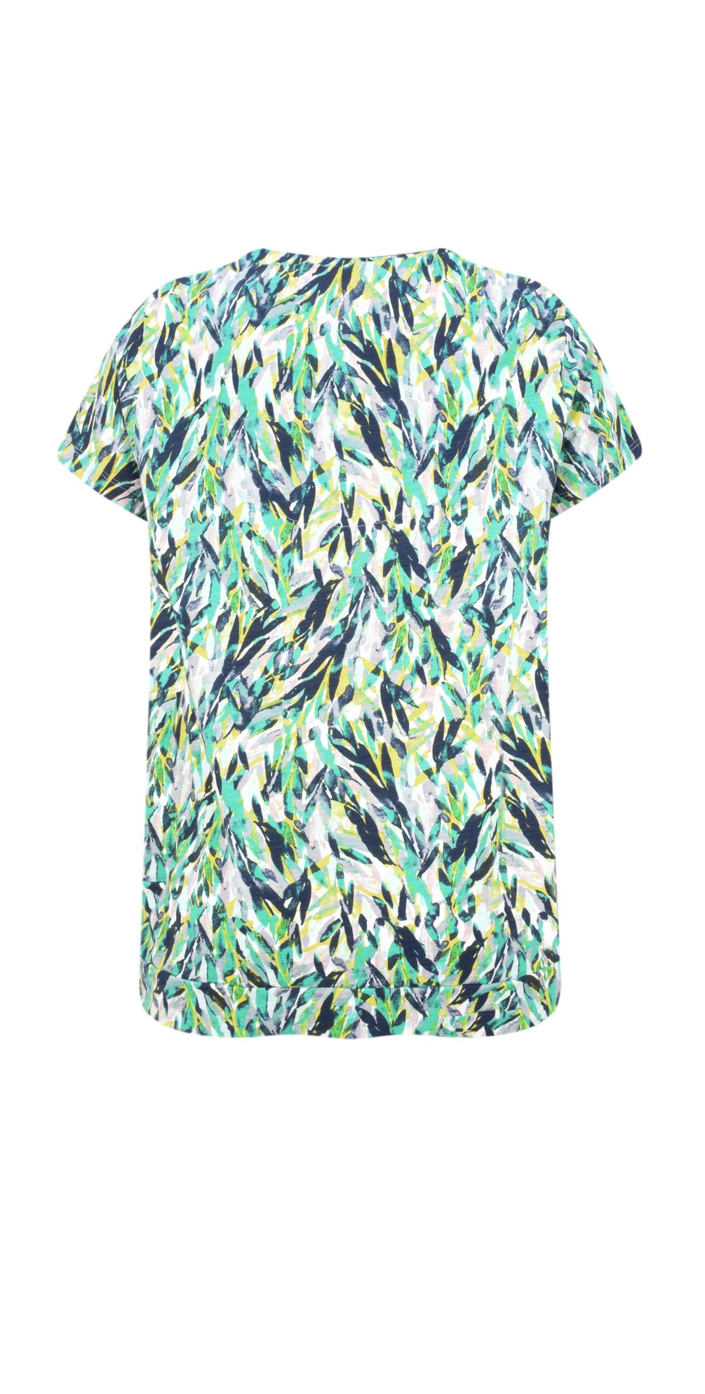 659eb685380 Sandwich Clothing Abstract Jersey Print Top in Jolly Green