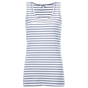 Sandwich Clothing Striped Cotton Rib Vest Top