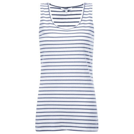 Sandwich Clothing Striped Cotton Rib Vest Top - Blue