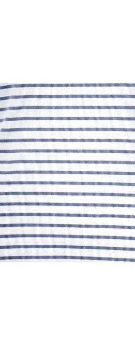 Sandwich Clothing Striped Cotton Rib Vest Top Navy