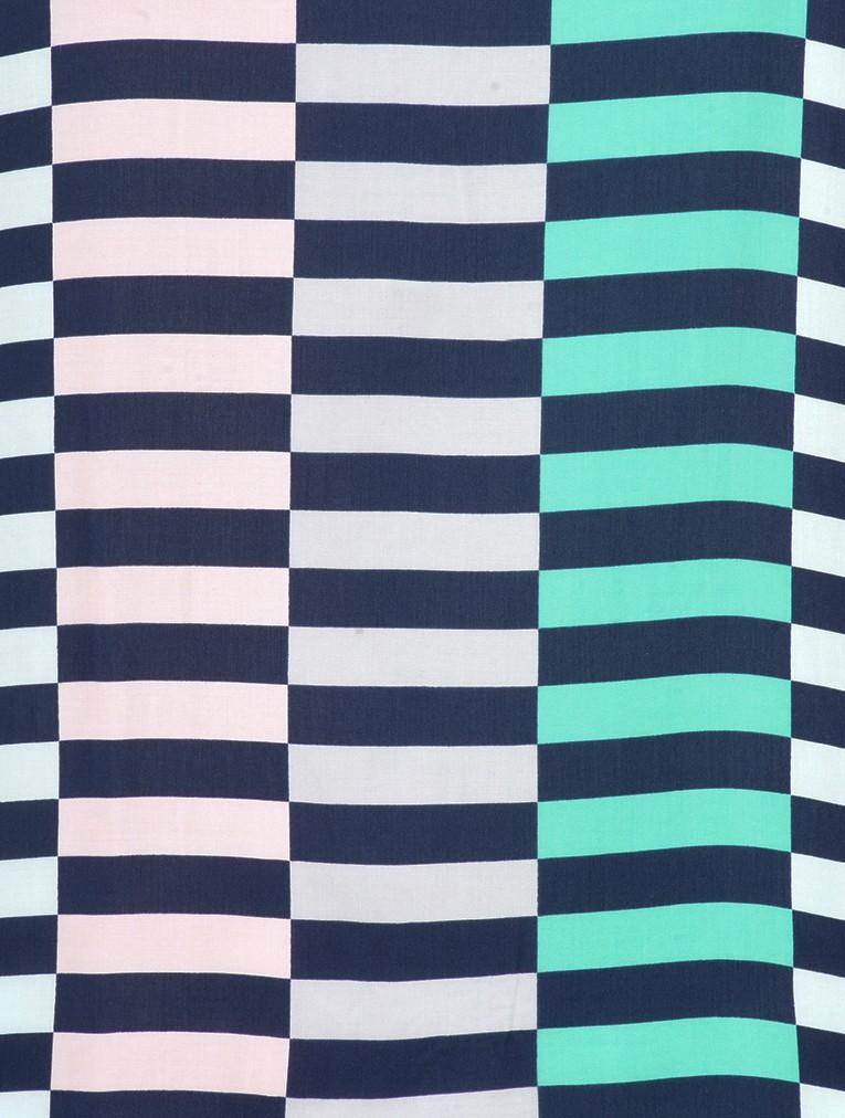 Distorted Stripe Print Blouse main image