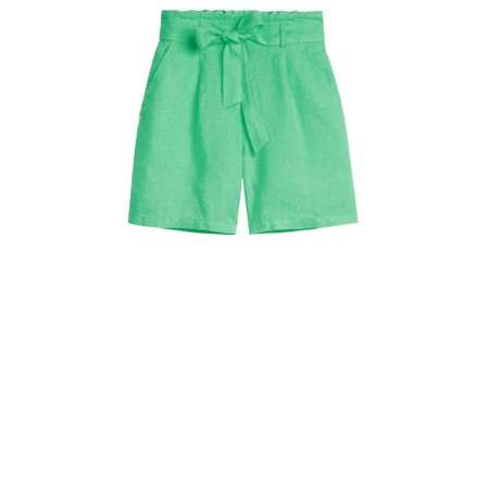 Sandwich Clothing Linen Casual Shorts - Green