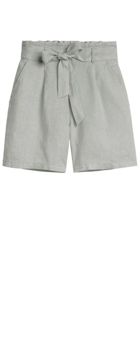 Sandwich Clothing Linen Casual Shorts Pearl Grey