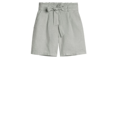 Sandwich Clothing Linen Casual Shorts - Blue
