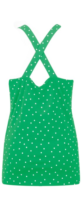 Sandwich Clothing Cross Back Dotted Vest Top Jolly Green