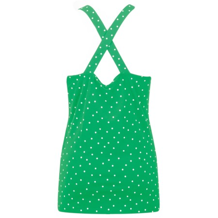 Sandwich Clothing Cross Back Dotted Vest Top - Green