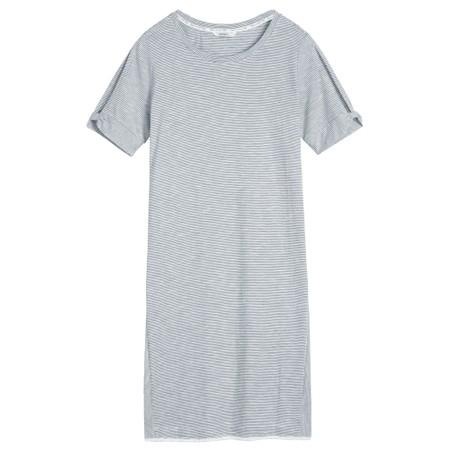 Sandwich Clothing Cotton Slub Stripe Jersey Dress - Blue