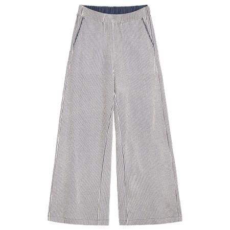 Sandwich Clothing Seersucker Stripe Wide Leg Trousers - Blue