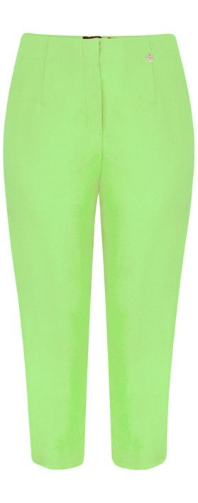 Robell Marie 07 Lime Cropped Trouser Lime 810