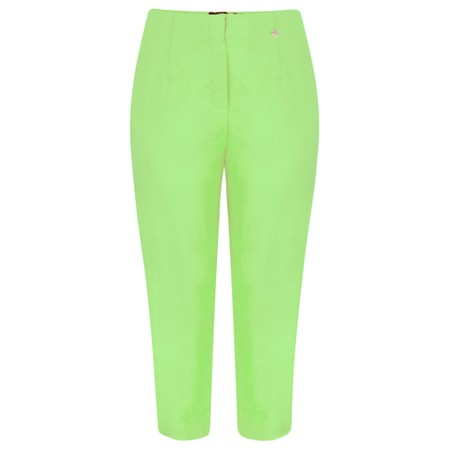 Robell  Marie 07 Lime Cropped Trouser - Green