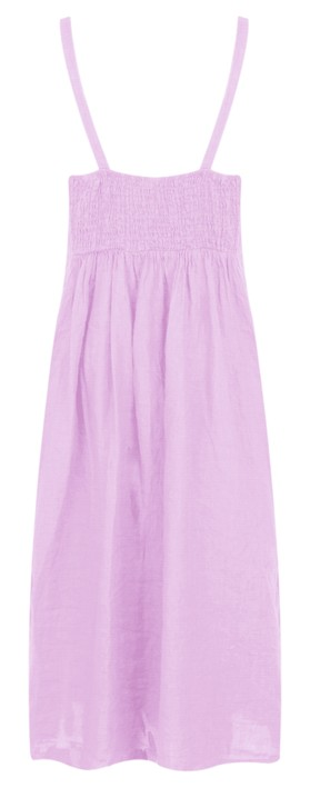 TOC  Cammie Linen Easy Fit Dress  Lilac