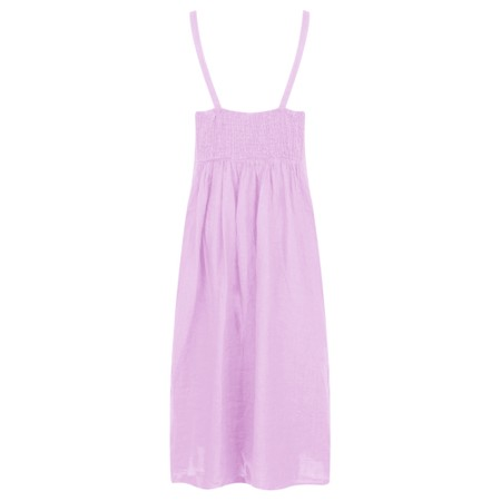 TOC  Cammie Linen Easy Fit Dress  - Purple