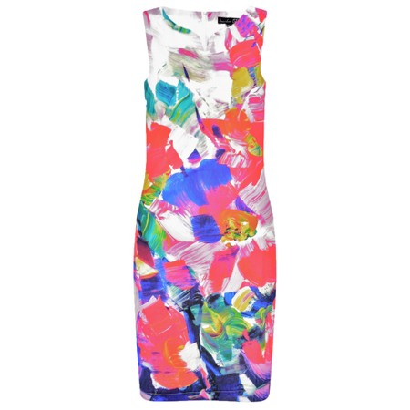 Smashed Lemon Floral Shift Dress - Multicoloured