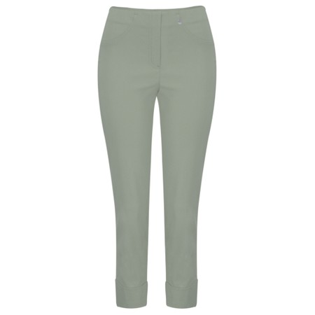 Robell Trousers Bella 09 Ankle Length 7/8 Cuff Trouser - Green