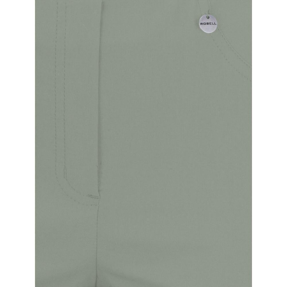 Robell Bella 09 Khaki Ankle Length Crop Cuff Trouser Khaki 881