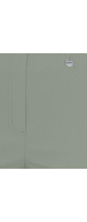Robell Trousers Bella 09 Ankle Length 7/8 Cuff Trouser Khaki 881