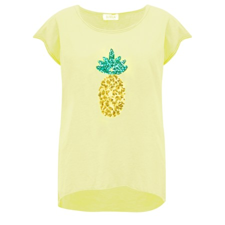 Luella Pineapple Sequin T-Shirt - Yellow