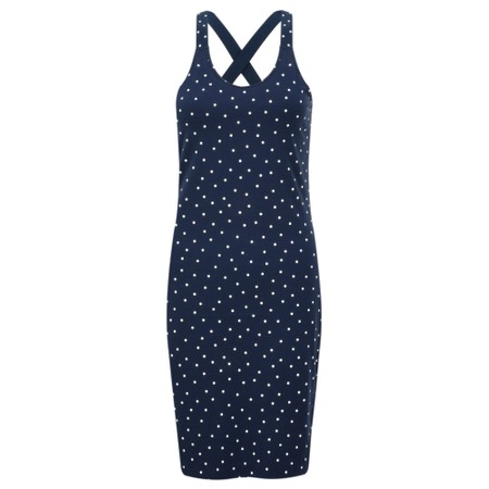 Sandwich Clothing Cross Back Dotted Long Vest Top - Blue