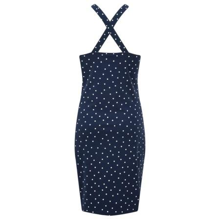 Sandwich Clothing Cross Back Dotted Long Vest Top - Blue