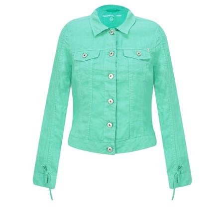 Sandwich Clothing Linen Ruffle Sleeve Jacket - Green